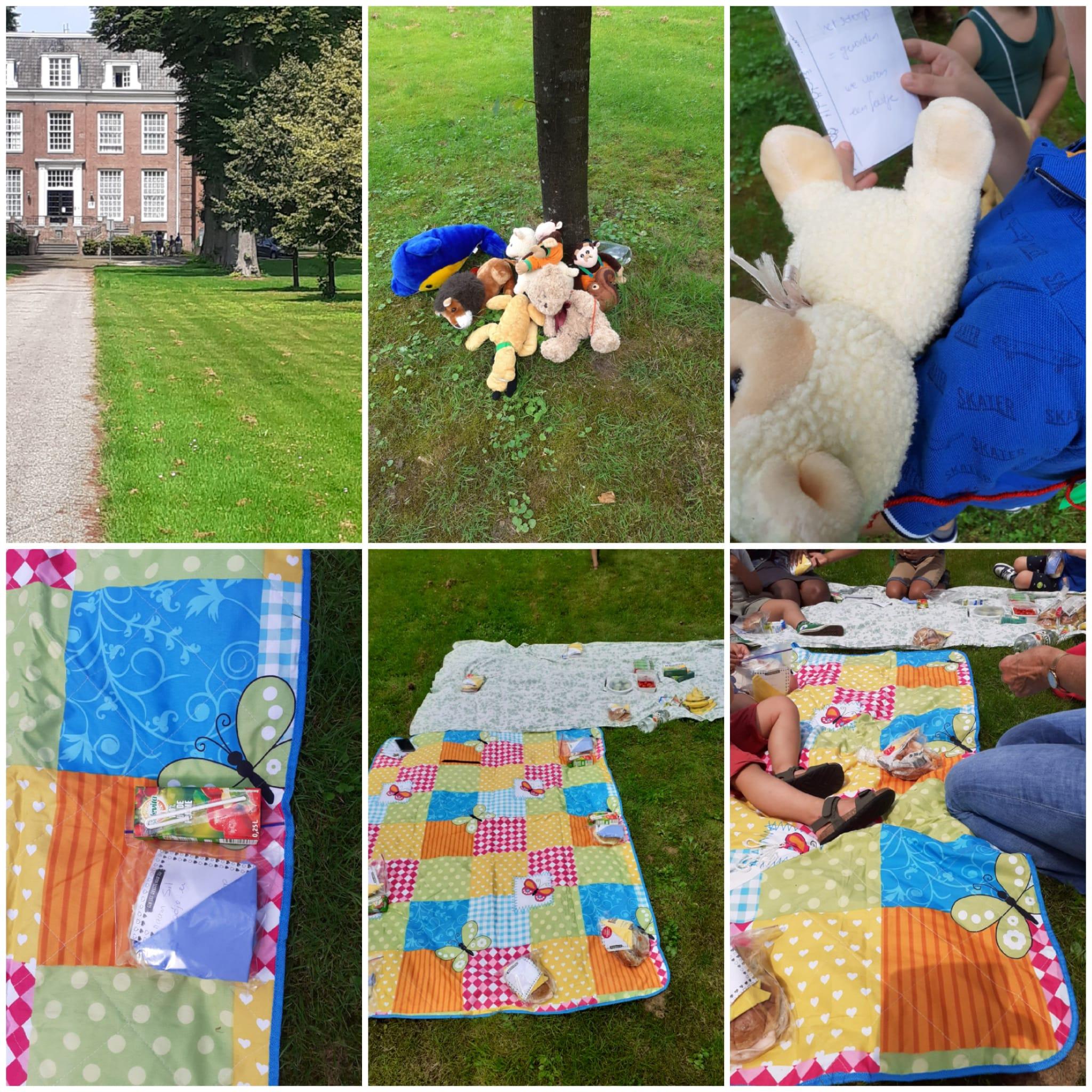 speurtocht en picknick